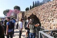 Tourists at Rome Royalty Free Stock Images