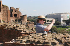 Tourists at Rome Stock Photography
