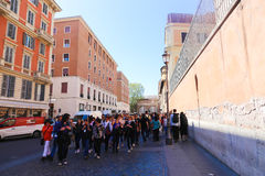 Tourists at Rome Stock Photo