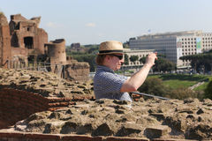 Tourists at Rome Royalty Free Stock Photos