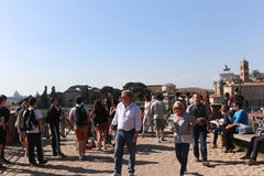 Tourists at Rome Royalty Free Stock Image