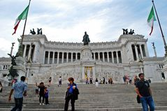 Tourists in Rome city on May 29, 2014 Royalty Free Stock Image