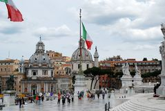 Tourists in Rome city on May 29, 2014 Stock Photography