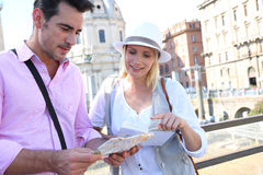 Tourists in Rome Royalty Free Stock Image