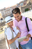 Tourists on Rome Royalty Free Stock Photo