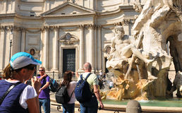 Tourists in Rome, Italy Stock Photos