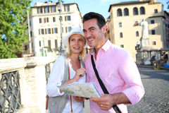 Tourists in Rome Royalty Free Stock Photos
