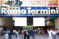 Tourists Rome Train Station Termini Entrance Royalty Free Stock Photo