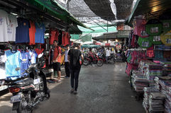 Tourists in Rong Kluea market Stock Images