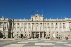 Tourists at Royal Palace, Madrid Royalty Free Stock Images