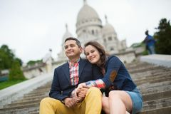 Tourists at the Sacre-Coeur in Paris Stock Photography