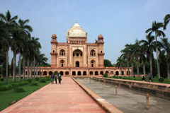 Tourists at Safdurjung Tomb, New Delhi, India Stock Photos