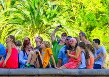 Tourists at Sagrada Familia Royalty Free Stock Photos