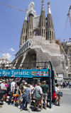 Tourists at the Sagrada Familia Barcelona Royalty Free Stock Images