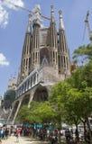 Tourists at the Sagrada Familia Barcelona Stock Image