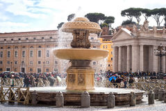 Tourists in Saint Peter's Square, Rome, Italy Stock Photos