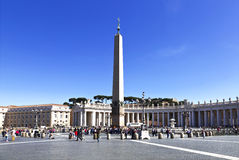 Tourists at Saint Peter's Square in Vatican City Royalty Free Stock Photo