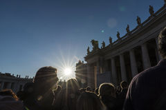 Tourists at Saint Peter`s Square in Vatican City, Vatican Stock Photography