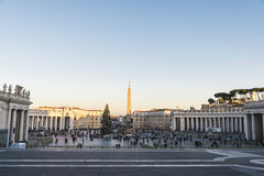 Tourists at Saint Peter`s Square in Vatican City, Vatican Stock Image