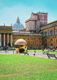 Tourists at Saint Peters Square in Vatican Stock Image