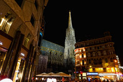 Tourists at Saint Stephane's cathedral, Vienna Royalty Free Stock Photography