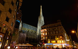Tourists at Saint Stephane's cathedral, Vienna Stock Image