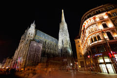 Tourists at Saint Stephane's cathedral, Vienna, Royalty Free Stock Images