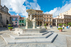 Tourists at San Francisco Square in Old Havana Royalty Free Stock Photo