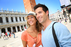Tourists in San Marco place, Venice Stock Photos