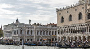 Tourists on San Marco square in Venice, Italy. Stock Photography
