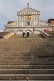 Tourists at San Miniato del Monte Royalty Free Stock Photo