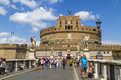 Tourists at Sant'Angelo Castle Stock Images