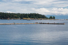 Tourists on Seawall in Nanaimo Stock Photography
