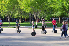 Tourists on Segway Stock Photos