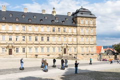 Tourists with segways at Neue Residenz in Bamberg Stock Image