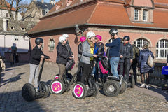 Tourists on Segways Royalty Free Stock Image