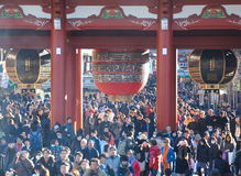 Tourists in the Senso-ji Temple ,asakusa temple Stock Photos