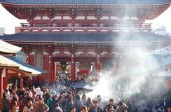Tourists in the Senso-ji Temple ,asakusa temple Stock Image