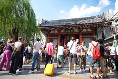 Tourists in the Senso-ji Temple Stock Photos
