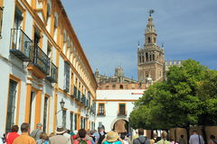 Tourists in Seville Stock Image
