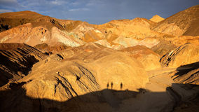 Tourists Shadows at Artists Palette in Death Valley National Par Royalty Free Stock Photo