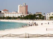 Tourists at Shirahama beach resort Royalty Free Stock Photos