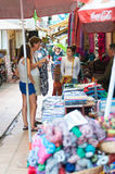 Tourists shop in Cambodia Royalty Free Stock Images