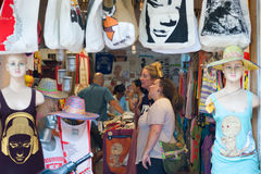 Tourists shop in Saigon Royalty Free Stock Photos
