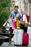 Tourists shopping Royalty Free Stock Image
