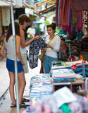 Tourists shopping in Cambodia Stock Photography