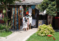 Tourists Shopping In Mostar 1 Stock Photo