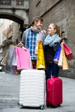 Tourists shopping Royalty Free Stock Photo