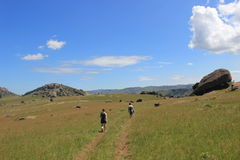 Tourists at Sibebe rock, southern africa, swaziland, african nature Royalty Free Stock Photography