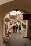 Tourists in Sibiu Royalty Free Stock Image